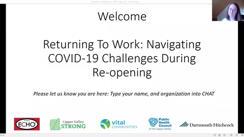 Thumbnail for entry Returning to Work: Navigating COVID-19 Challenges During Re-Opening