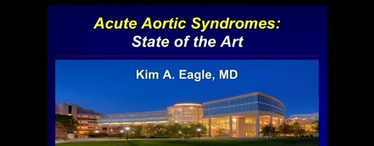 Acute Aortic Syndromes:  State of the Art