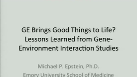 Thumbnail for entry GE Brings Good Things to Life? Lessons Learned from Gene-Environment Interaction Studies of Psychiatric Disorders