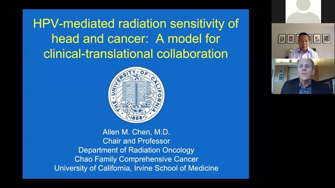 Thumbnail for entry HPV-Mediated Radiation Sensitivity of Head and Neck Cancer: A Model for Clinical-Translational Collaboration