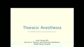 Thumbnail for entry Thoracic Anesthesia, Early Mobility after Thoracic Surgery- The Wave Protocol