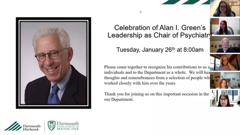 Thumbnail for entry Celebration of Alan I. Green's Leadership in Psychiatry