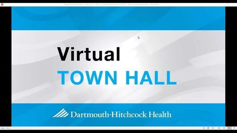 Thumbnail for entry Virtual Town Hall: Monday,  July 26, 2021