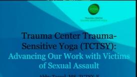Thumbnail for entry Trauma Center Trauma-Sensitive Yoga Part One