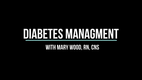 Thumbnail for entry Diabetes Management 2020
