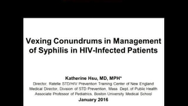 Thumbnail for entry Vexing Conundrums in Management of Syphilis in HIV-Infected Patients