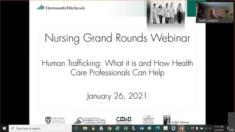 Thumbnail for entry Human Trafficking: What it is and How Health Care Professionals Can Help