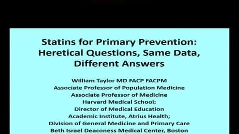 Thumbnail for entry Statins for Primary Prevention