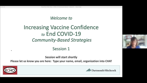 Thumbnail for entry Project ECHO: Increasing Vaccine  Confidence