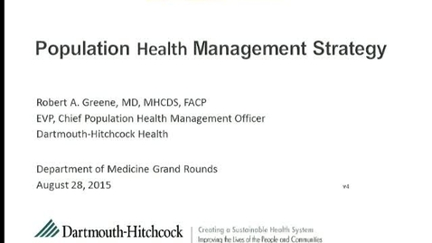 Thumbnail for entry Population Health Management Strategy