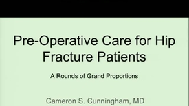 Thumbnail for entry Perioperative Pain Control For Hip Fractures