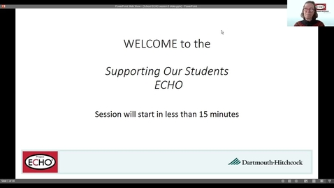 Thumbnail for entry Project ECHO: Supporting Our Students - Session 8