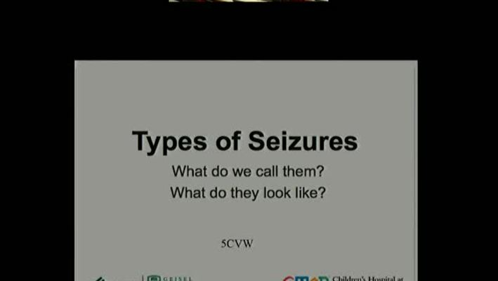 Seizures: What they look like, and what do we call them?