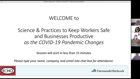 Thumbnail for entry Project ECHO: Keeping Workers Safe - Session 3
