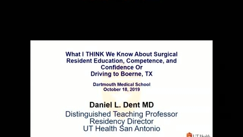 Thumbnail for entry What I THINK We Know About Surgical Education
