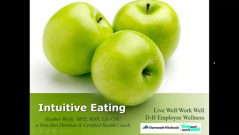 Thumbnail for entry Intuitive Eating