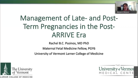 Thumbnail for entry OB Focus Management of Late- and Post- Term Pregnancies in the Post-ARRIVE Era-20210211 1752-1