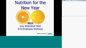 Thumbnail for entry Nutrition for the New Year