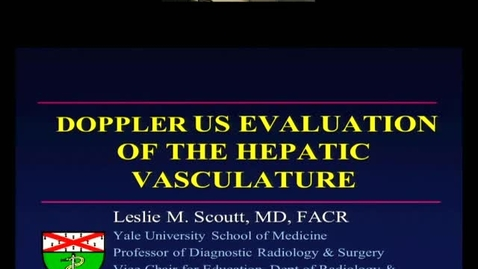 Doppler US Evaluation of the Hepatic Vasculature