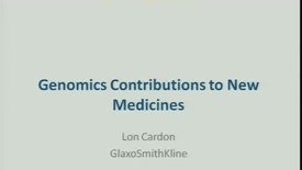 Thumbnail for entry Genomics Contributions to New Medicines