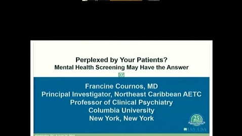Thumbnail for entry Mental Health Screening and Aging Issues in HIV