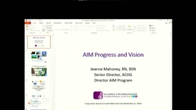 Thumbnail for entry The AIM Initiative:  Impacts, Lessons Learned and Next Steps for NNEPQIN