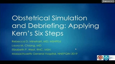 Thumbnail for entry Obstetrical Simulation and Debriefing