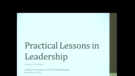 Thumbnail for entry Practical Lessons in Leadership