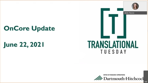 Thumbnail for entry Translational Tuesday: OnCore Update