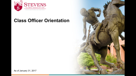 Thumbnail for entry Class Officer Orientation 1