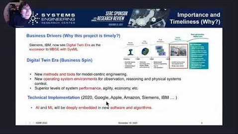 Thumbnail for entry SSRR 2020: WRT-1025: Using AI/ML Design Patterns for Digital Twins and Model-Centric Engineering