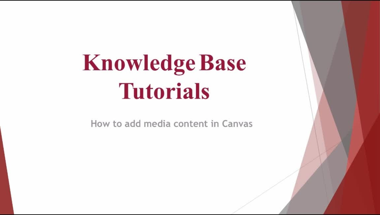 How to add media content to Canvas