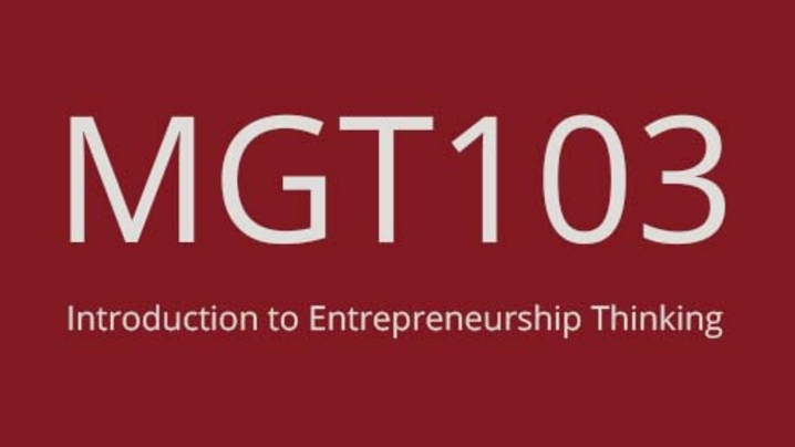Thumbnail for channel MGT 103 Channel 2021