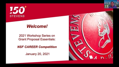 Thumbnail for entry January 20 -- NSF CAREER Competition Workshop