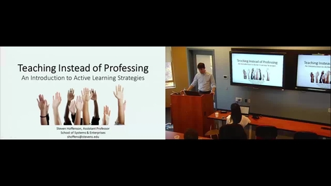 Thumbnail for entry Teaching Instead of Professing: An Introduction to Active Learning Strategies