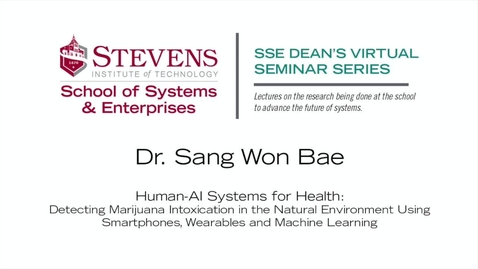 """Thumbnail for entry Prof. Sang-Won Bae on """"Human-AI Systems for Health"""""""