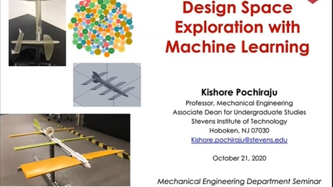"Thumbnail for entry ""Design Space Exploration with Machine Learning"" with Professor Kishore Pochiraju"