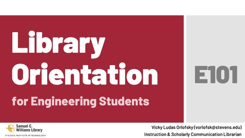 Thumbnail for entry E101 Library Orientation for Engineering Students - Fall 2020 - Quiz