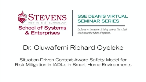 Thumbnail for entry Prof. Oluwafemi Richard Oyeleke on Risk Mitigation in Smart Home Environments