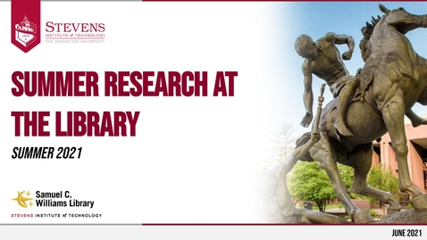Thumbnail for entry Summer Research at the Library
