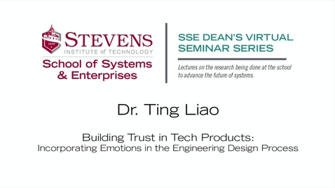 """Thumbnail for entry Prof. Ting Liao on """"Building Trust in Tech Products"""""""