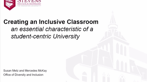 Thumbnail for entry Creating an Inclusive Classroom