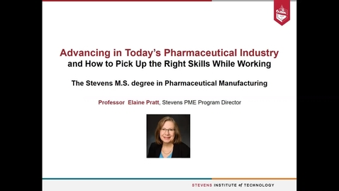 Thumbnail for entry The Stevens MS Degree in Pharamceutical Manufacturing