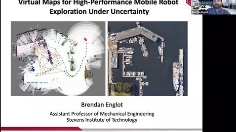 """Thumbnail for entry """"Virtual Maps for High-Performance Mobile Robot Exploration Under Uncertainty"""" with Professor Brendan Englot"""
