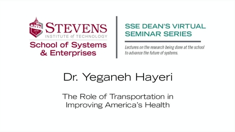 "Thumbnail for entry Prof. Yeganeh Hayeri on ""The Role of Transportation in Improving America's Health"""