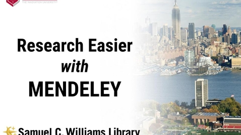 Thumbnail for entry Research Easier with Mendeley (March 2021)