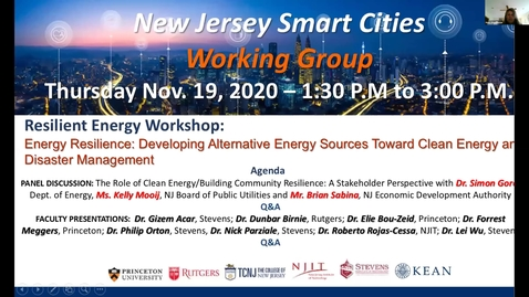 Thumbnail for entry Energy Resilience Workshop for Smart Cities