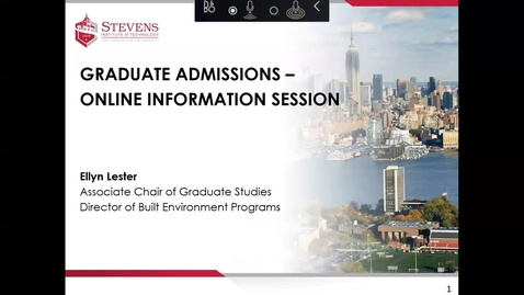 Thumbnail for entry Office of Graduate Admissions: Department of Civil, Environmental & Ocean Engineering Prospective Student Webinar Dr. Ellyn Lester