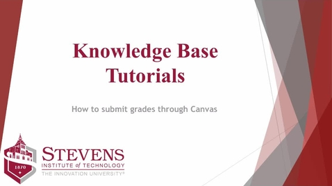 Thumbnail for entry Submit Grades Through Canvas - Quiz