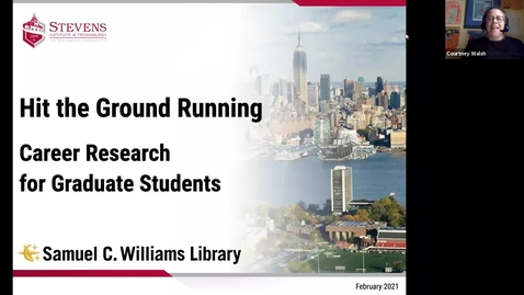 Thumbnail for entry Hit the Ground Running: Career Research for Graduate Students (February 2021)